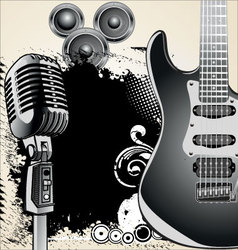 Grunge-music-background vector