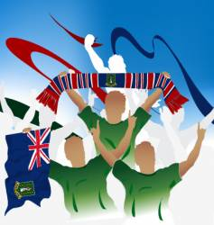 British virgin islands crowd vector