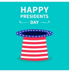 Hat with stars and strip presidents day vector