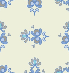 Spring ornaments blue 2 vector