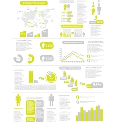 Infographic demographics new style yellow vector