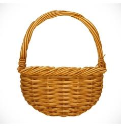 Realistic wicker basket vector