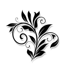 Elegance floral element vector