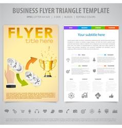 Flyer design template vector
