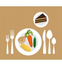 Delicious food vector