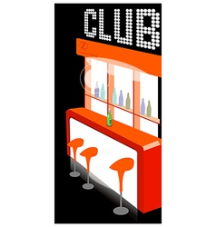 Club counter interior vector