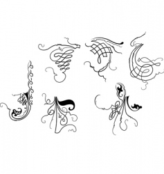 Baroque design elements vector