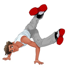 Funny breakdancer vector
