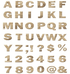 Alphabet wooden letters vector