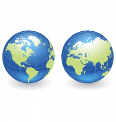 Globes of earth vector