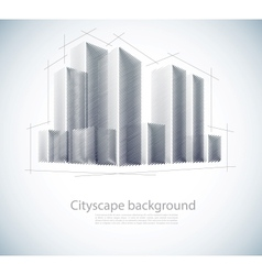Buildings in sketch vector