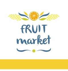 Fruit market tasty and healthy editable template vector