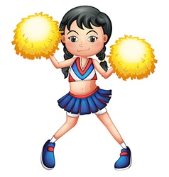 A pretty cheerleader vector