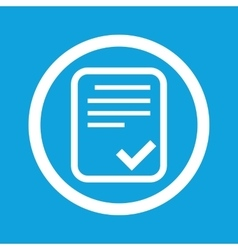 Approved document sign icon vector