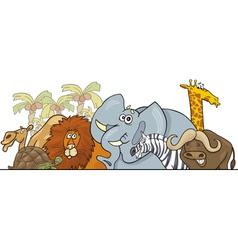 Cartoon african safari animals vector