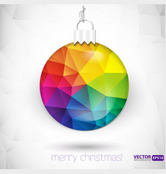 Triangle christmas decorations background vector