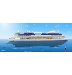Big cruise ship vector
