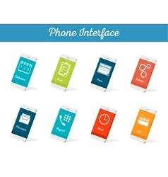 Set of models interface smartphone vector