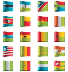 Flags - africa vector