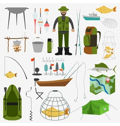 Fishing infographic elements fishing benefits and vector