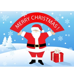 Santa claus with banner vector