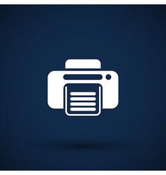Fax icon design printer document print vector