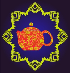 Background of tea time vector