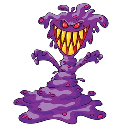 Scary violet monster vector
