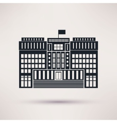 Courthouse icons in a flat style vector