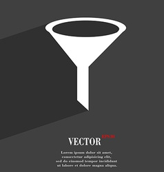 Funnel icon symbol flat modern web design with vector