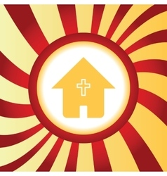 Christian house abstract icon vector