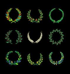 Circular laurel wrearhs vector