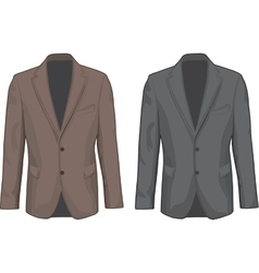 Brown and gray male coats vector