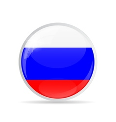 Round flag icon vector