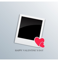 Valentine day card with heart vector