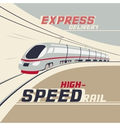 High-speed rail vector