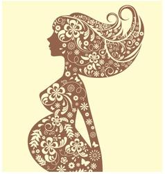 Silhouette pregnant vector