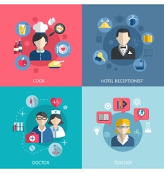 People professions concept vector