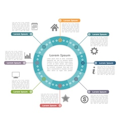 Circle infographics vector