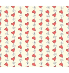 Seamless heart pattern love vector