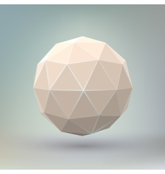 Abstract geometric spherical shape vector