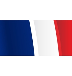 Background with waving french flag vector