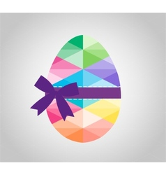 Geometric shape of egg easter egg triangular and vector