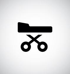 Medical bed symbol vector