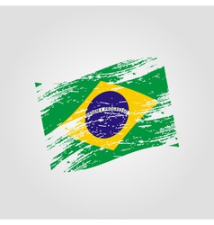 Color brazil national flag grunge style eps10 vector