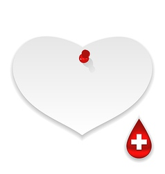 Donate blood save life paper memo vector