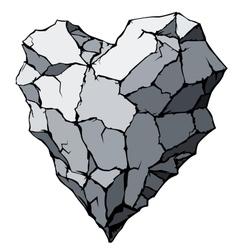 Stone heart vector
