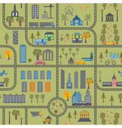 City map seamless pattern vector