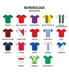 Bundesliga jerseys 2014 - 2015german football vector