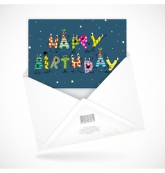 Postal envelopes with greeting card vector